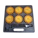 Valise 6 balises flash orange Ancomex rechargeable