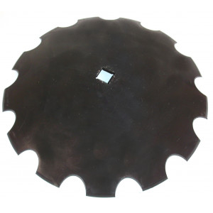 Disque de cover crop carré de 41 crénelé diamètre 610 épaisseur 6