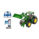 Tracteur John Deere 7310R avec chargeur et télécommande Bluetooth