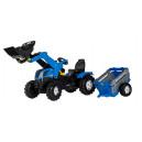 Tracteur New Holland avec remorque rollyFarmtrac