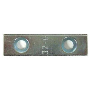 Contre plaquette fraisée 56 × 15 × 3 EA 32 mm D6