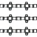 Jeu de 3 chaînes de convoyeur N° 4 FAHR 2480-2680-2685-2780 céréales long
