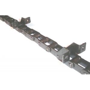 Chaine nue à otons longueur 5m07 33 équerres pour CLAAS DOMINATOR