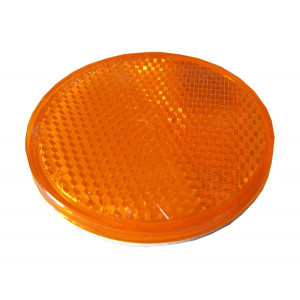 Catadioptre rond adhésif Orange - Diamètre 61