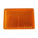 Catadioptre rectangle adhésif  Orange