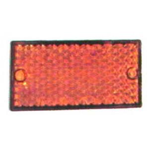 Catadioptre rectangle à fixer Rouge