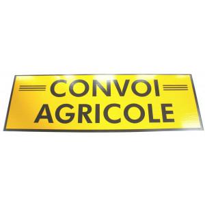 Panneau « Convoi agricole » 1900 x 200 simple face (rigide)