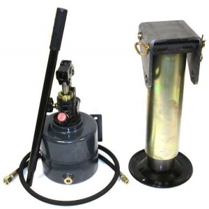 Kit béquille hydraulique 5.7T + pompe + flexible + levier