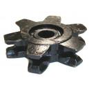 Noix 14 x 50 acier coulé type CURETABLE cannelée