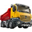 Camion MERCEDES AROCS 4 essieux avec benne basculante halfpipe