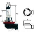 Ampoule, projecteur longue portée Hella 12 V culot PGJ 19-1